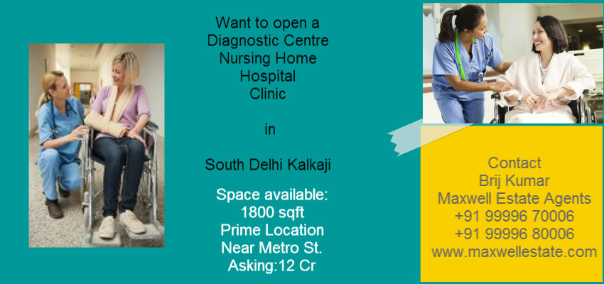 Prime Location Space Land available for Hospital Nursing Home Diagnostic Centre in Kalkaji South Delhi